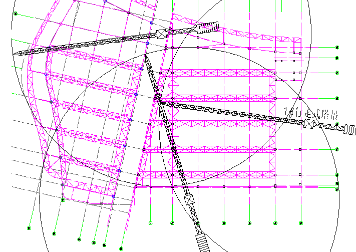 第二、三展区吊机布置图