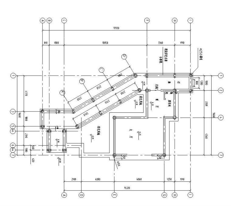 单层不规则公园茶室施工图设计