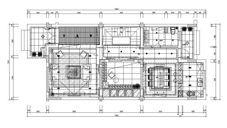 现代风格联排别墅效果图-施工图