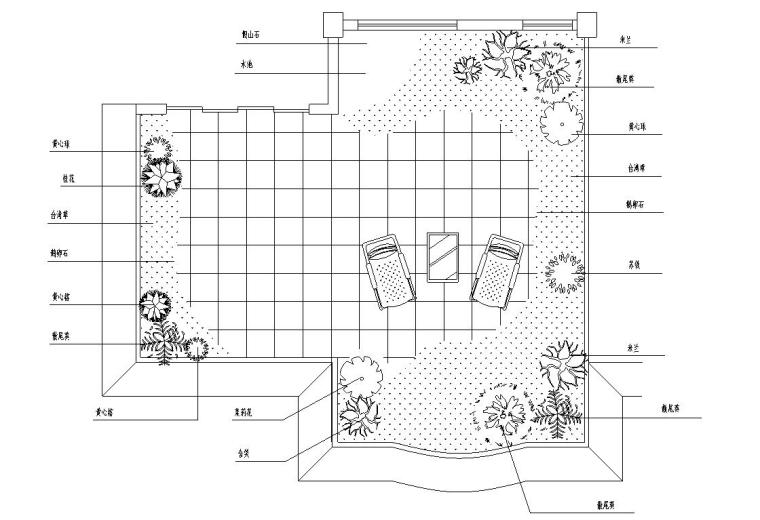 单小茶艺馆装饰初步设施工图设计