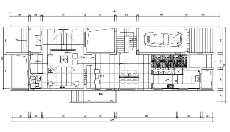 复式现代简约别墅室内装饰施工图+效果图