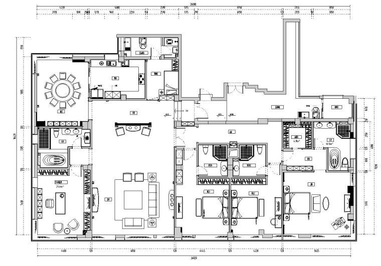 欧式风格豪华家装设计完整施工图设计+实景