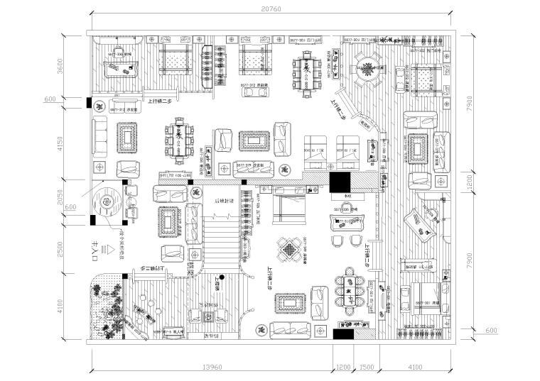 [上海]某服装专卖店室内装饰设计项目施工图