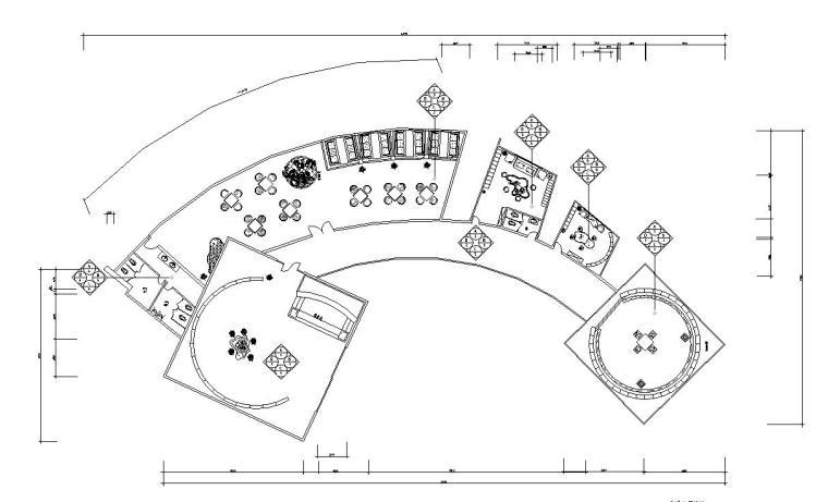 古典中式风格茶楼规范施工图图纸