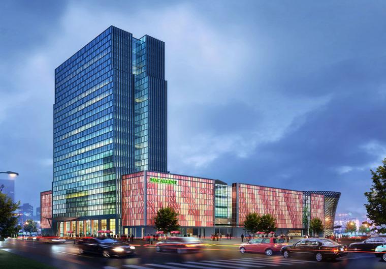 建材商场建筑外观设计案例效果图