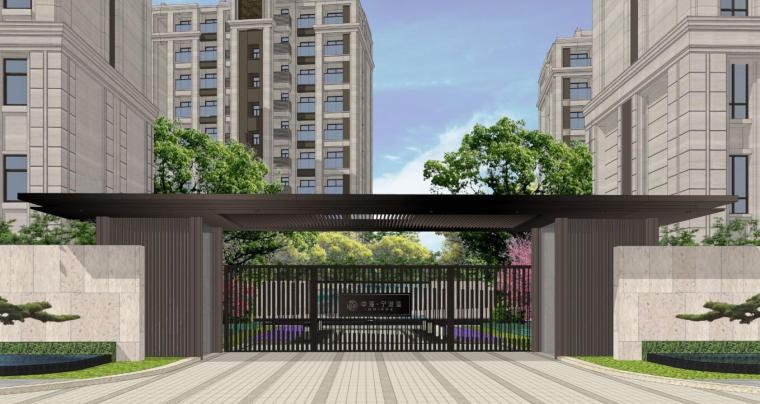 [浙江]滨江新中式风格住宅大区景观方案