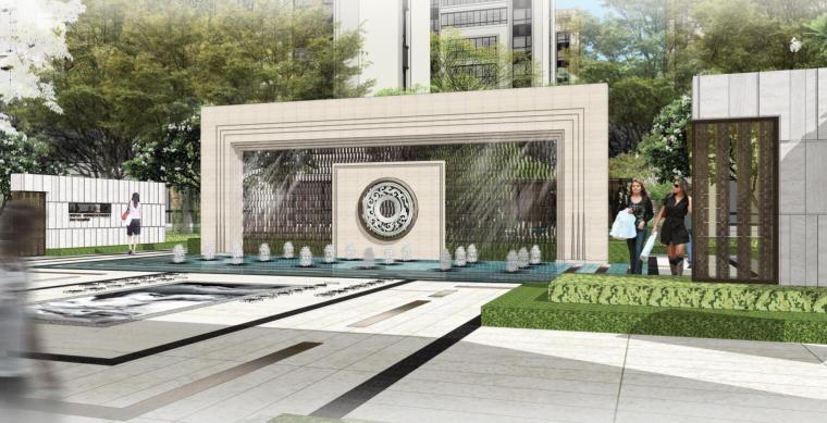 [山东]海珀新古典风格住宅区景观设计