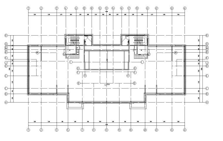 三十二层1梯2户住宅户型平面图设计