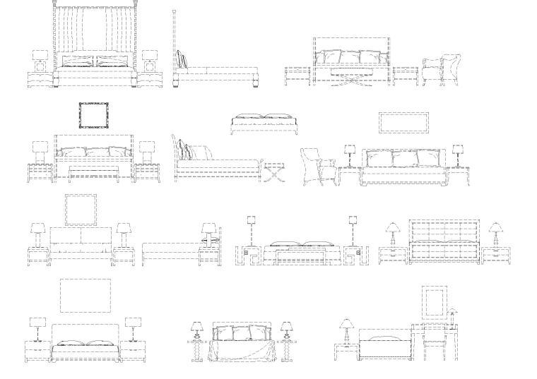 现代家具,装饰,灯具等CAD图库