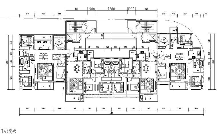 T4户型图