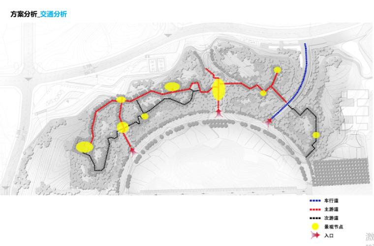 [湖南]山体公园-攸县后山绿地景观概念设计-10-攸县后山知名地产-交通分析