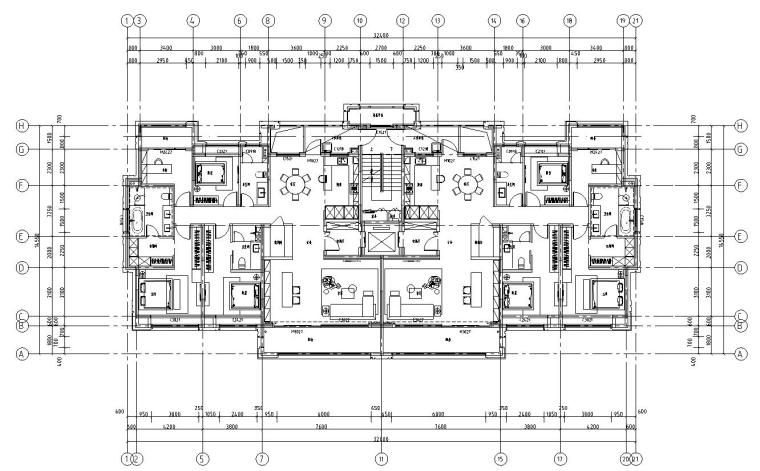 4-8层平面图