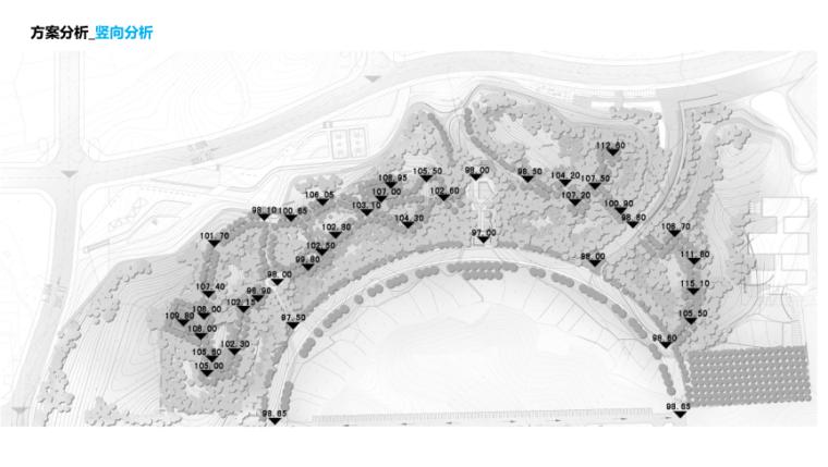 [湖南]山体公园-攸县后山绿地景观概念设计-11-攸县后山知名地产-竖向分析