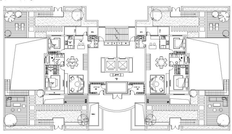 高层多种户型深化设计图纸