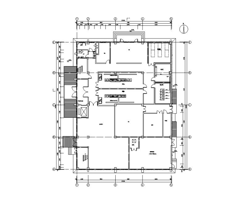 医用气体机房设计资料下载-山东3层机房强弱电电气施工图