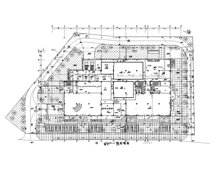 贵州省某大型办公楼机电设计施工图_200张-一层给排水平面图