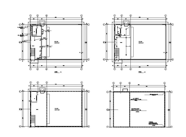 天津厂房电气施工图(含水暖)