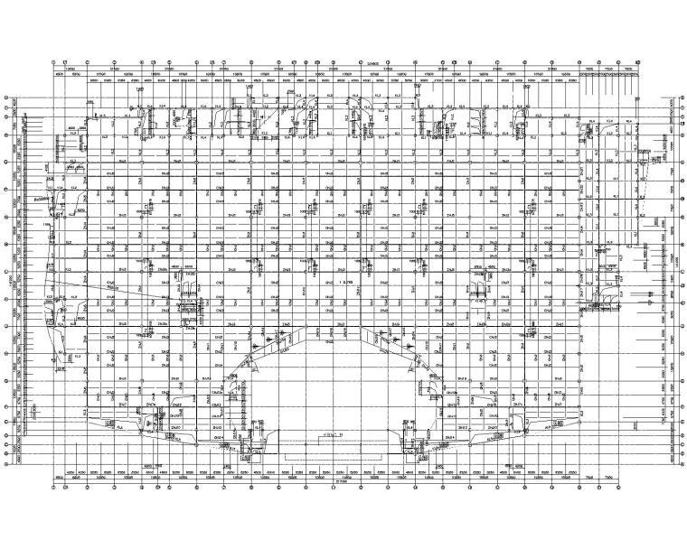 某钢结构框架会展中心施工图(CAD)