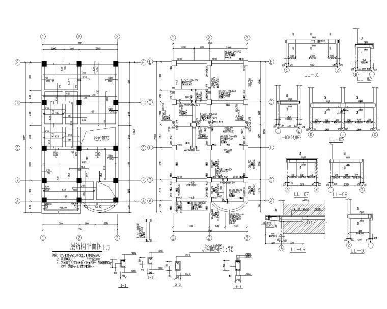 某五层小型住宅砖混结构施工图(CAD)