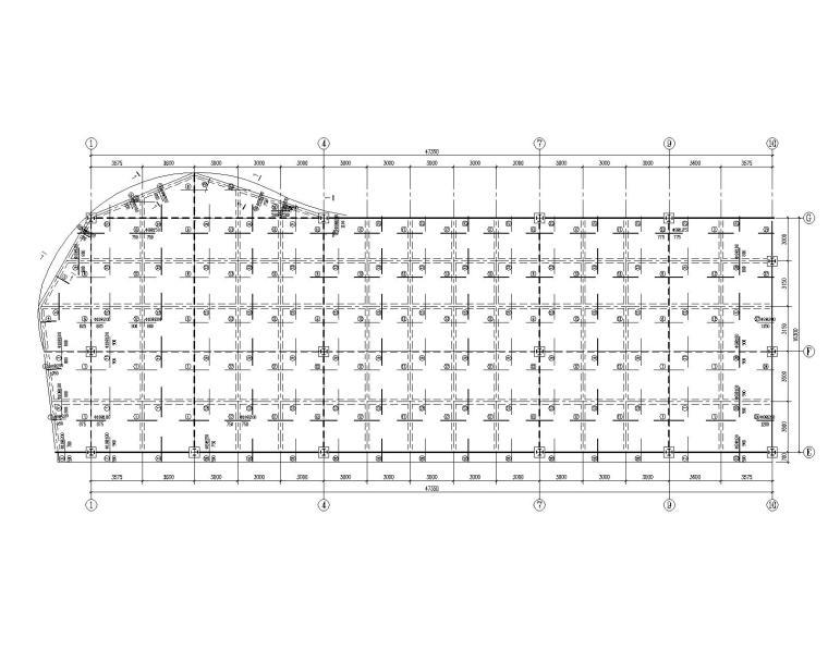 某五层酒店型钢混凝土结构施工图(CAD)