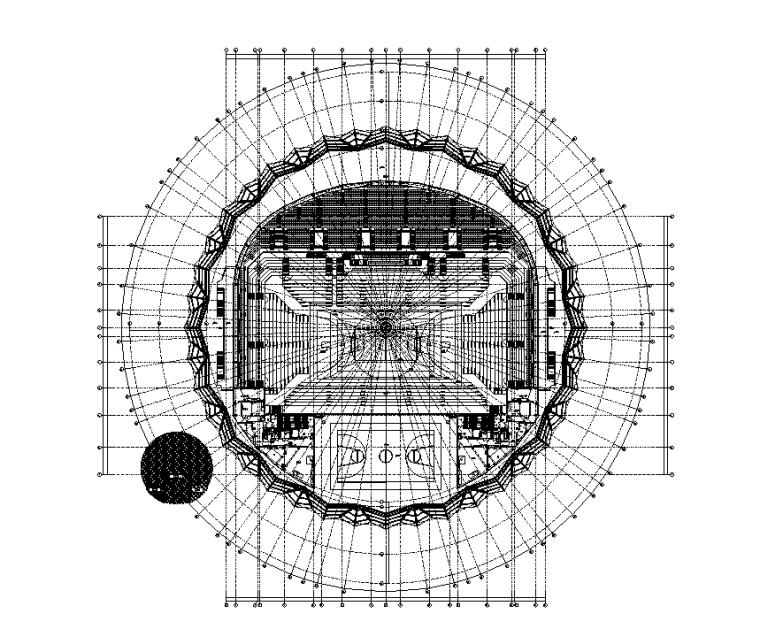 湖南2万平体育中心机电施工图