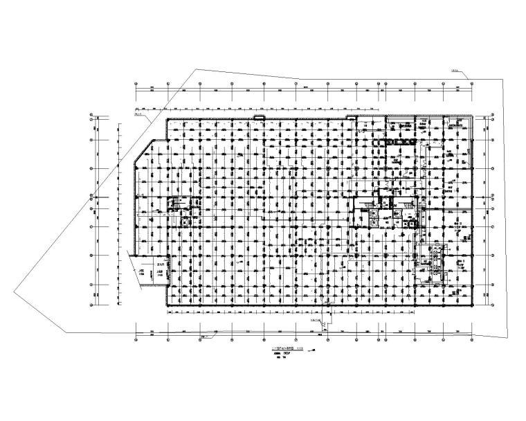 贵州省某大型办公楼机电设计施工图_200张-负一层自喷淋平面图