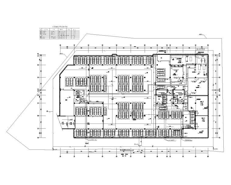 贵州省某大型办公楼机电设计施工图_200张-负一层给排水平面图
