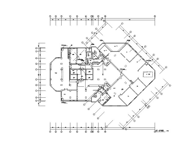 地下一层智能应急疏散照明平面图
