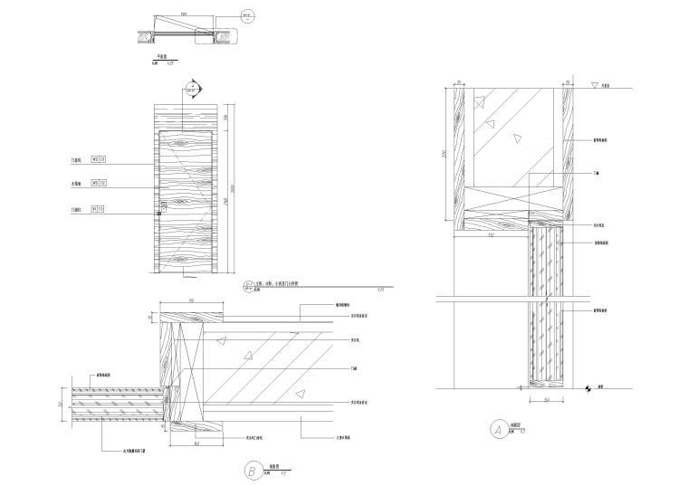 欧式家具装饰图块节点详图