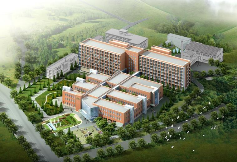 现代风格综合医疗医院建筑设计