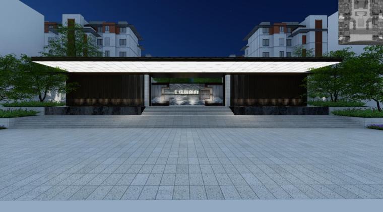 [江苏]南京新中式风格住宅景观方案设计