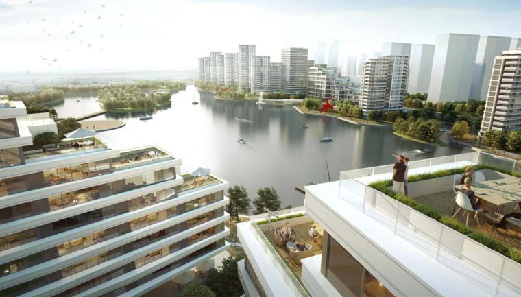 浙江现代风格综合城市规划建筑方案文本-效果图一