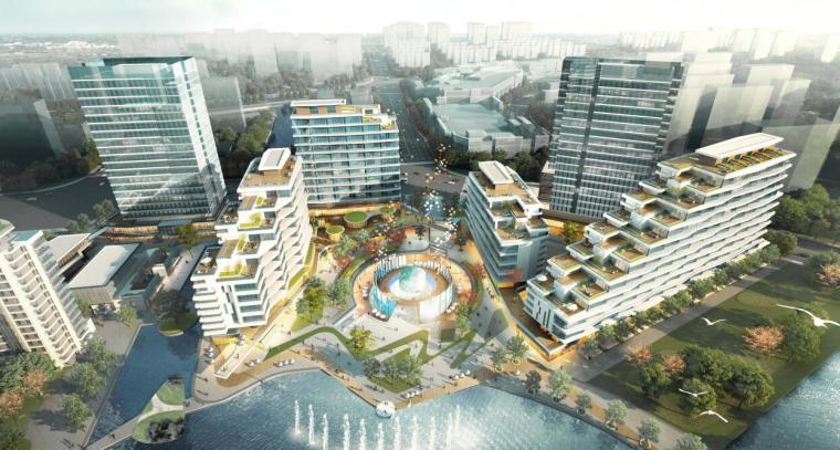 浙江现代风格综合城市规划建筑方案文本-效果图