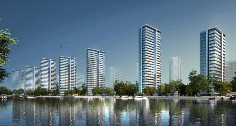 浙江现代风格综合城市规划建筑方案文本-效果图二