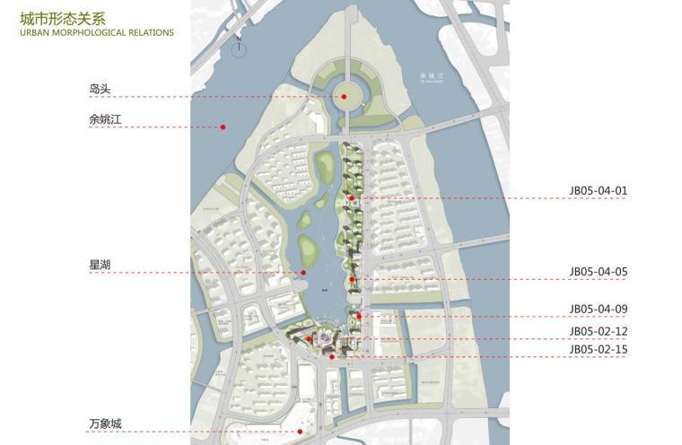 浙江现代风格综合城市规划建筑方案文本-城市形态关系