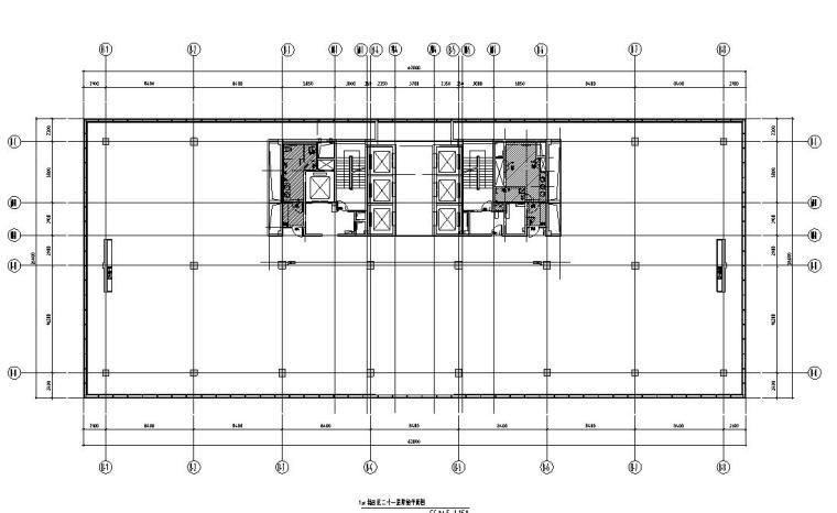 [浙江]现代办公空间装修施工图设计