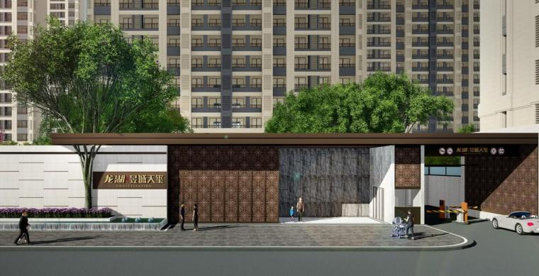 龙湖现代风某高端地产住宅大区景观设计方案