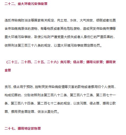 """""""新型冠状病毒肺炎""""紧急状态,涉及30个罪名(5)"""