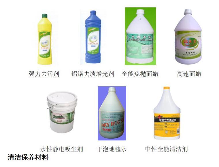 清洁保养材料