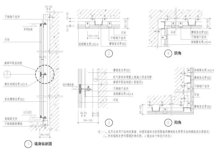 设计院标准图集-墙面石材节点