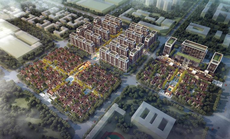 [四川]叠拼别墅+小高层建筑规划方案设计