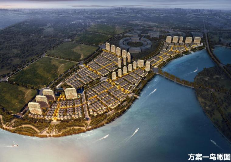 [山东]新中式滨水别墅高层住宅建筑方案设计