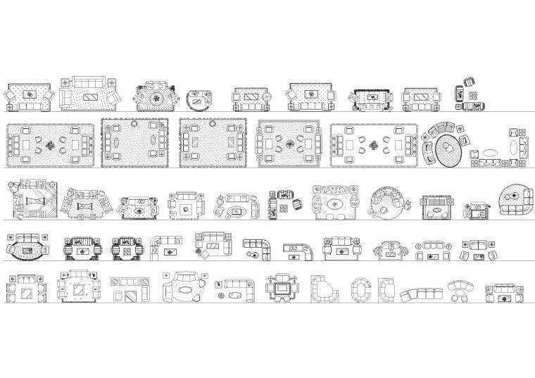 室内欧式平面CAD图块