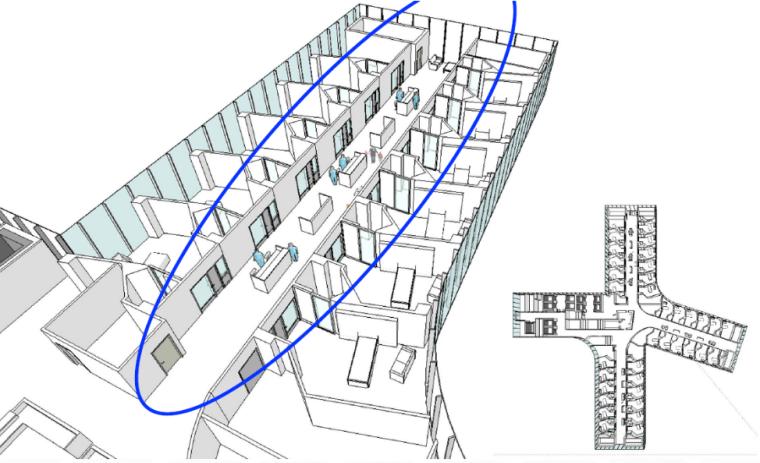 医护站和走廊设计