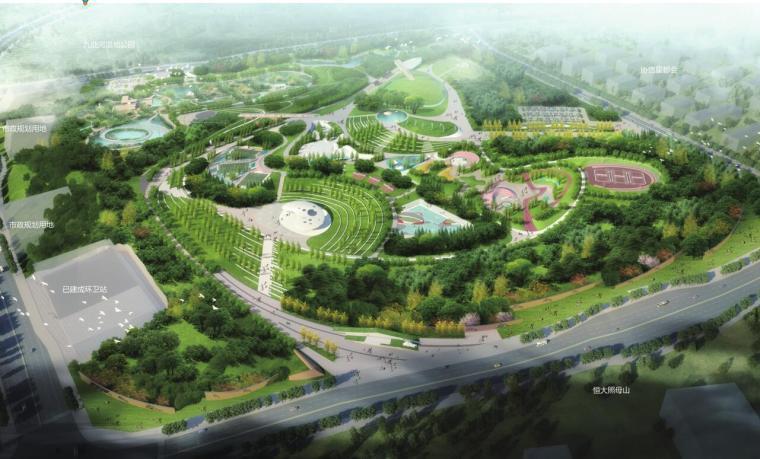 [重庆]金州综合公园概念景观设计
