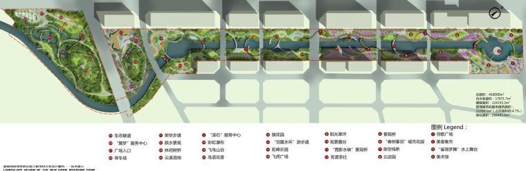[云南]新海河滨河带状公园工程方案设计-总平面图