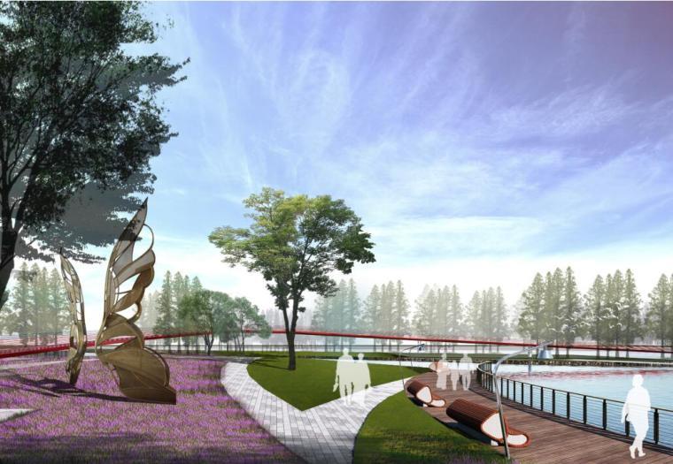 [云南]新海河滨河带状公园工程方案设计-01 效果图