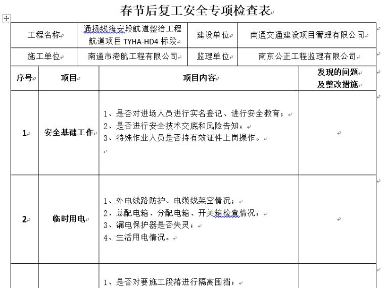 疫情复工方案企业通用模板及案例4