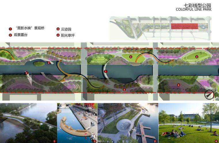 [云南]新海河滨河带状公园工程方案设计-七彩线型公园