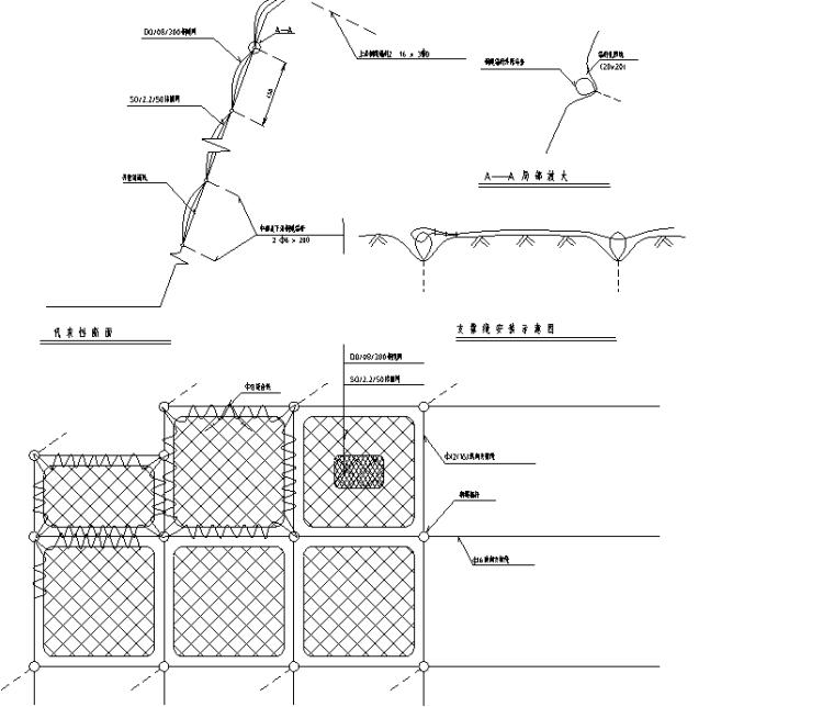 边坡防护设计绿化节点图纸合集(34组)